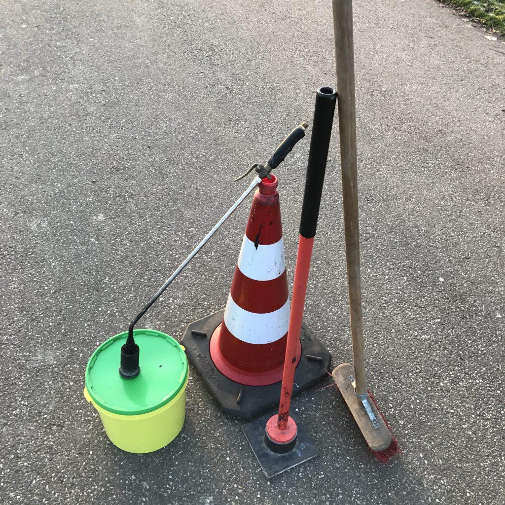 techniek reparatie asfalt